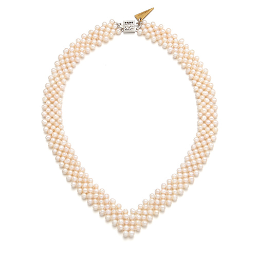Real Pearl V Necklace main