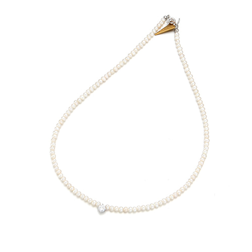 Fresh Pearl Shine Point Necklace