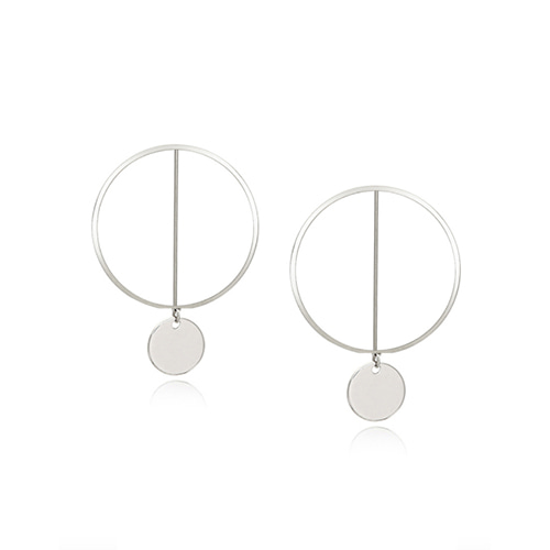 Tow Circles Earring_Silver