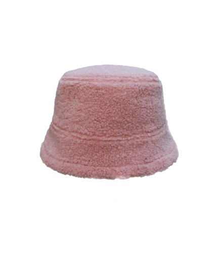 fleece bucket H - pink