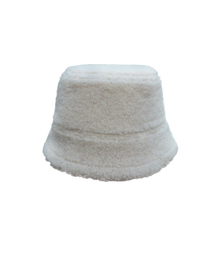 fleece bucket H - ivory