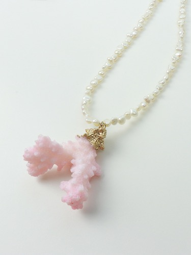 Coral Point Pearl Necklace