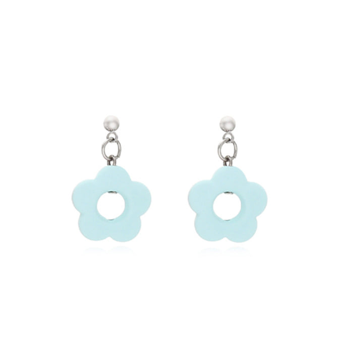 Flower Earring - Skyblue